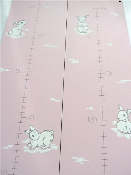 Pink base with bunnies growth chart